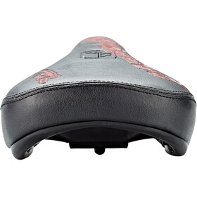 DARTMOOR Fatty Pivotal Saddle Miljøvennlig Skinn black/red devil